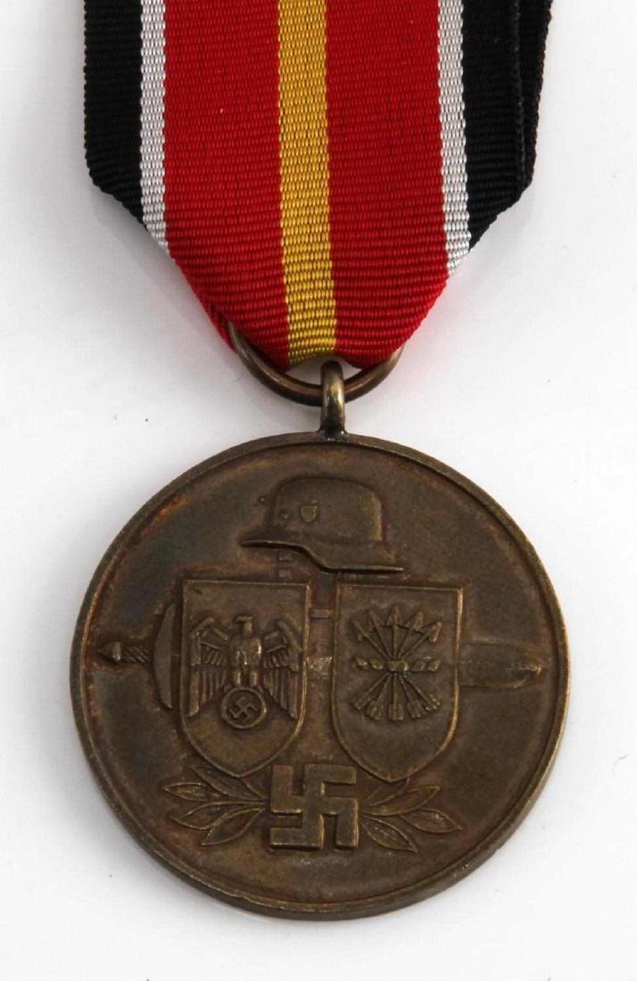 WWII GERMAN SPANISH BLUE DIV EASTERN FRONT MEDAL - 2