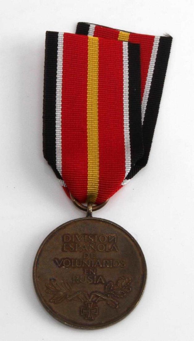 WWII GERMAN SPANISH BLUE DIV EASTERN FRONT MEDAL - 3