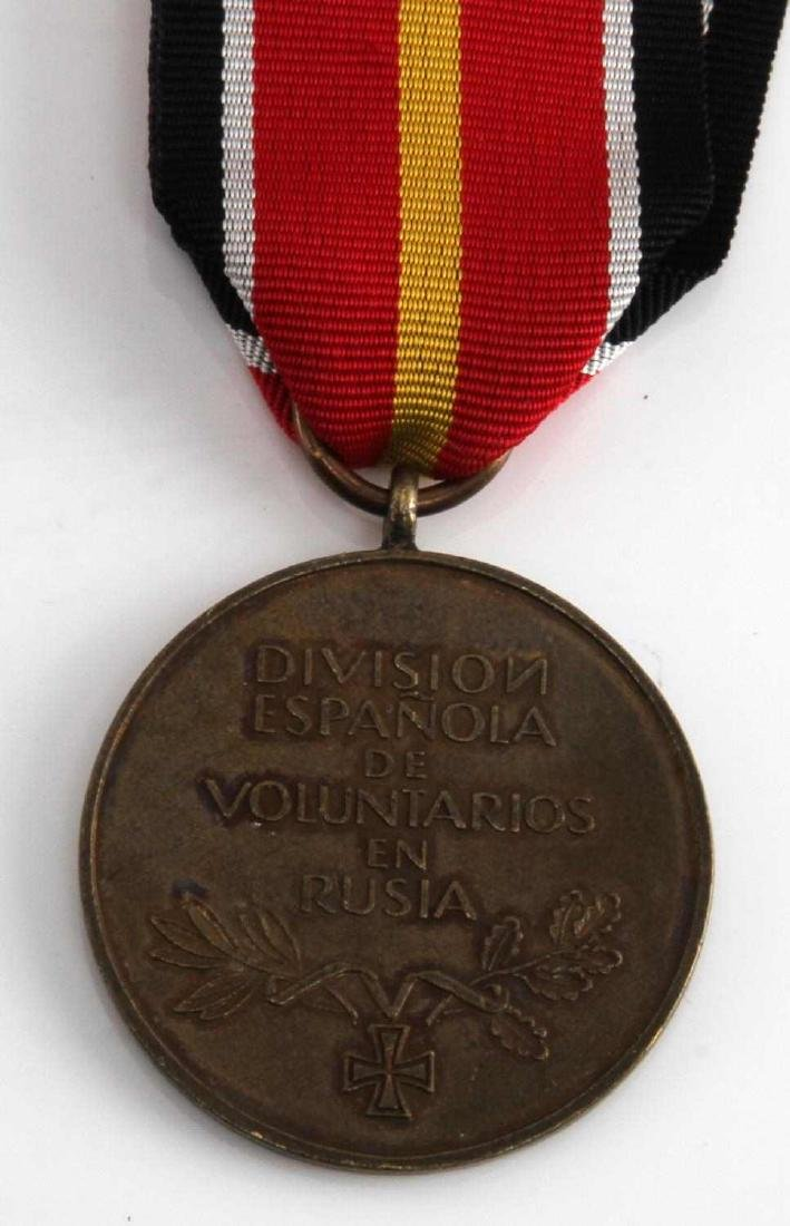WWII GERMAN SPANISH BLUE DIV EASTERN FRONT MEDAL - 4