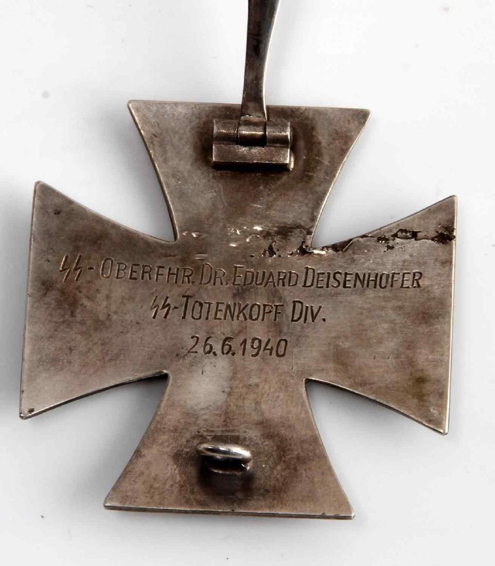 WWII GERMAN THIRD REICH IRON CROSS 1ST CLASS NAMED - 3