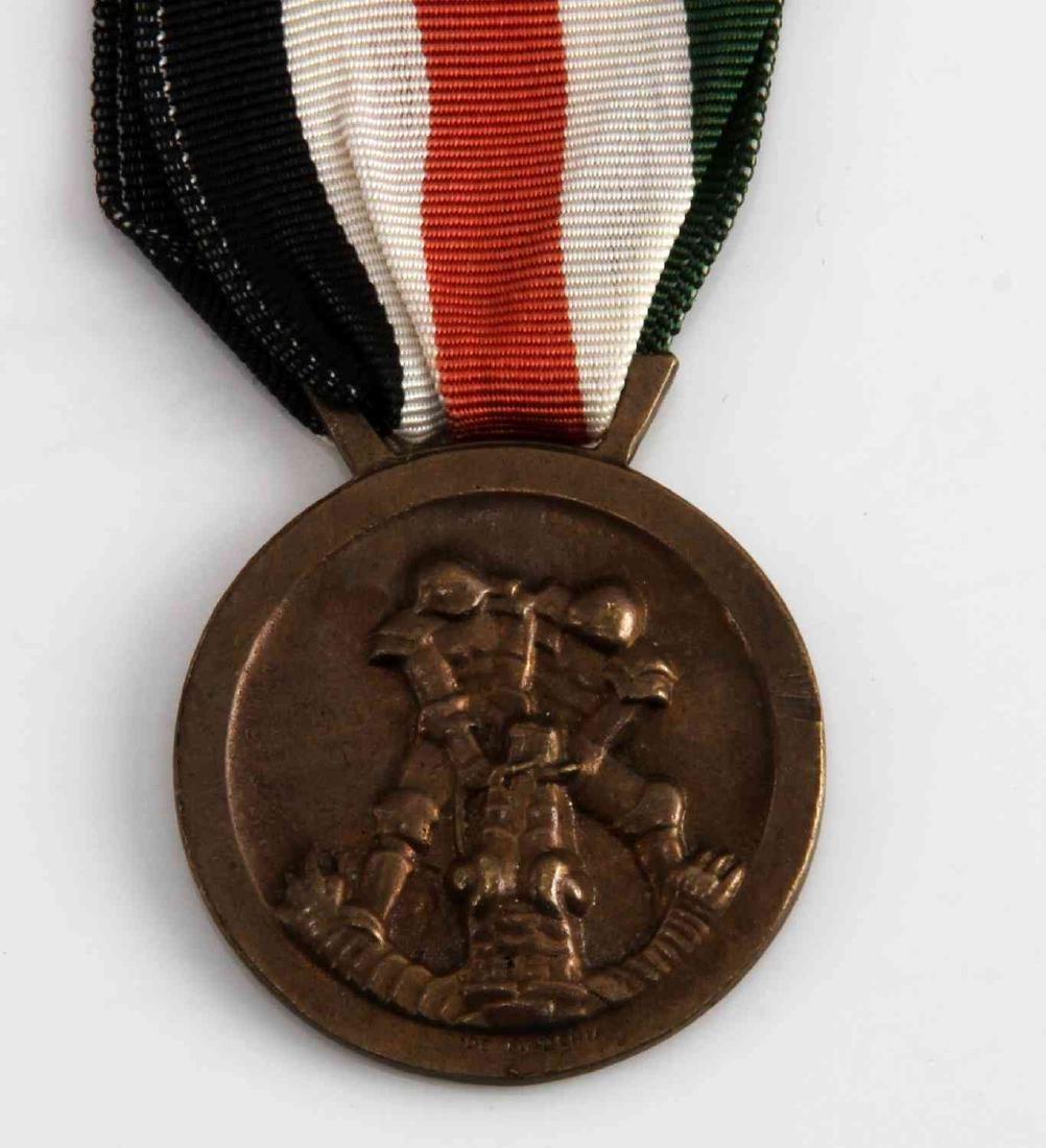 WWII GERMAN ITALIAN AFRIKA KORPS SERVICE MEDAL - 2