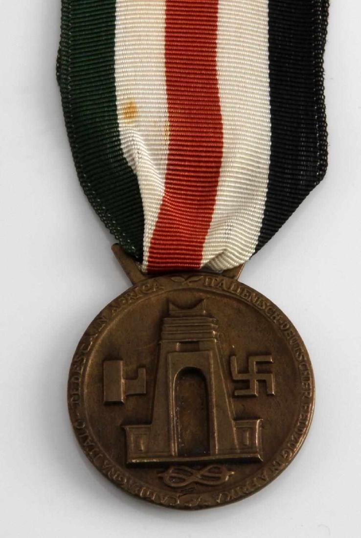 WWII GERMAN ITALIAN AFRIKA KORPS SERVICE MEDAL - 3