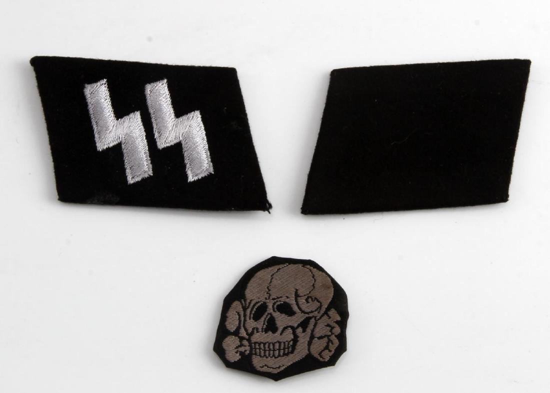 PAIR OF GERMAN WWII WAFFEN SS COLLAR TABS RUNES