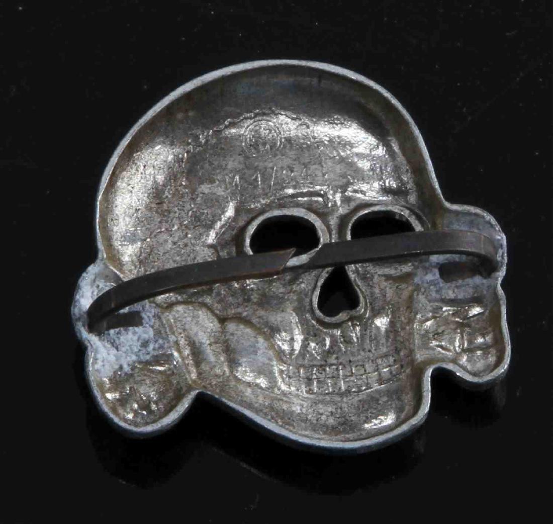 GERMAN WWII TR WAFFEN SS OFFICERS CAP SKULL - 2