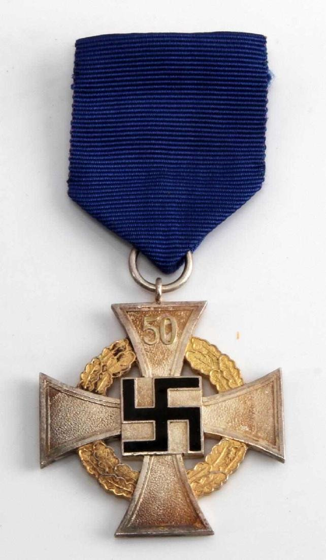 WWII GERMAN NSDAP 50 YEAR POLITICAL SERVICE CROSS