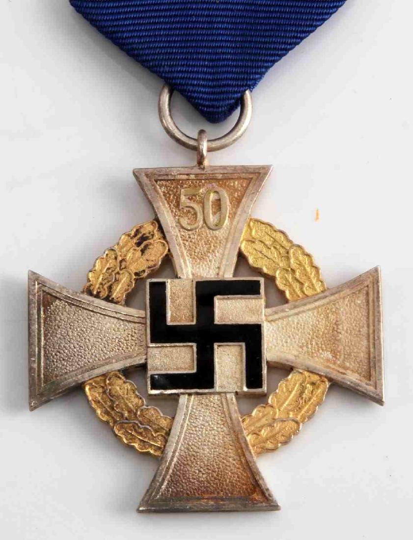 WWII GERMAN NSDAP 50 YEAR POLITICAL SERVICE CROSS - 2