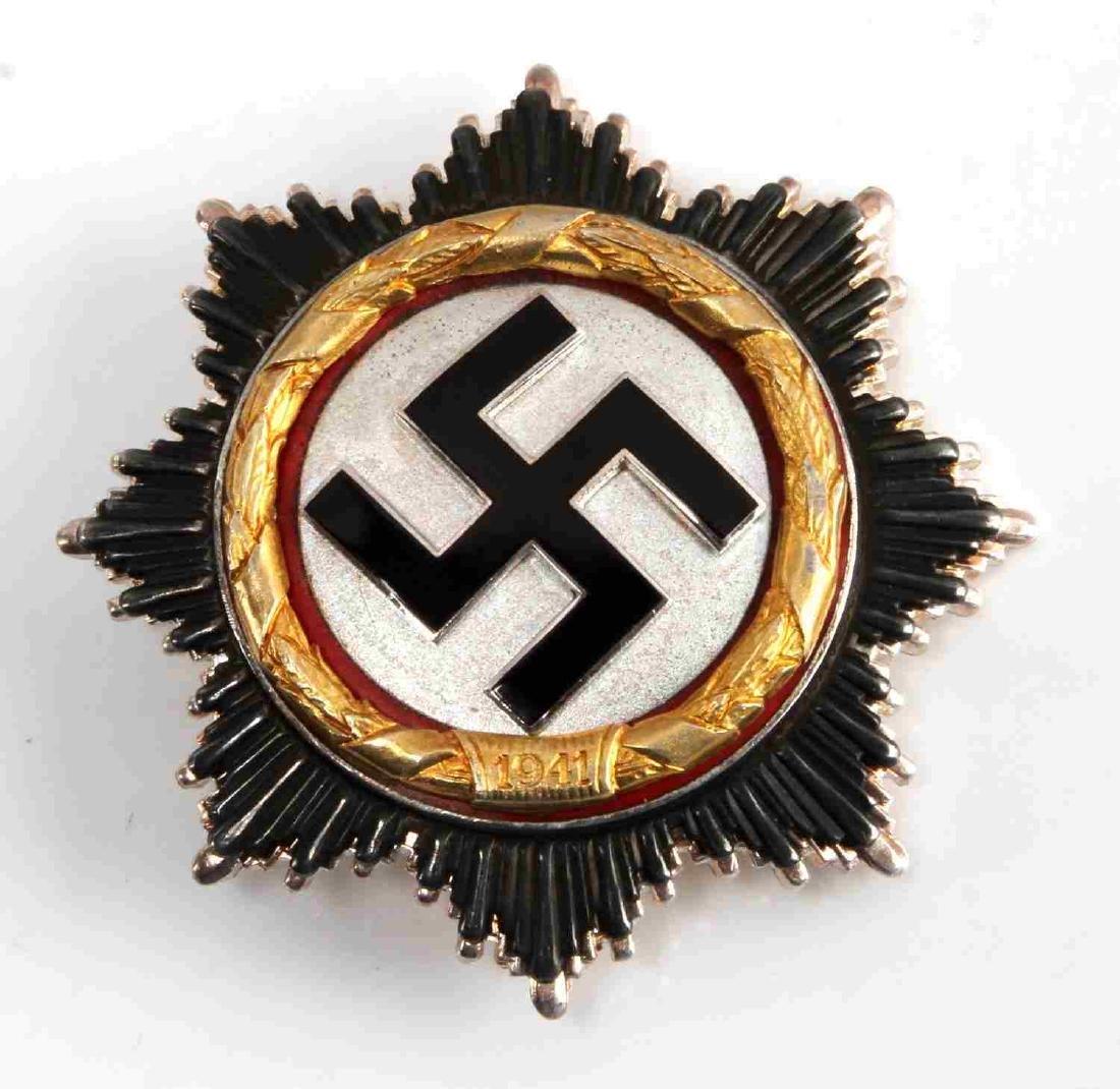 WWII GERMAN THIRD REICH CROSS IN GOLD MARKED