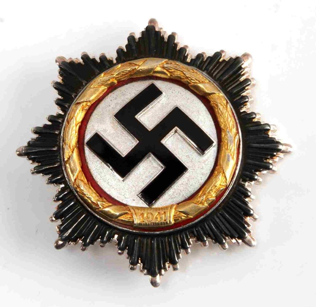 WWII GERMAN THIRD REICH CROSS IN GOLD MARKED
