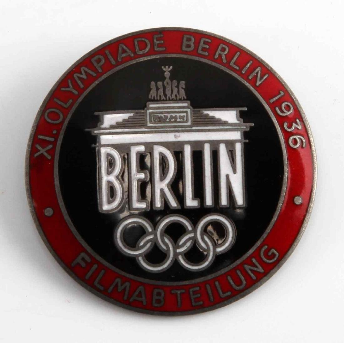 1936 BERLIN OLYMPICS FILM CREW FILMABTEILUNG PIN