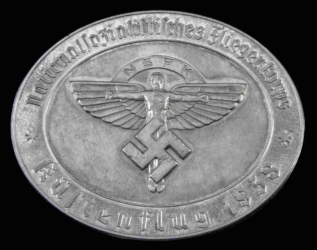 GERMAN WWII 1938 NSFK KUFTENFLUG TABLE AWARD