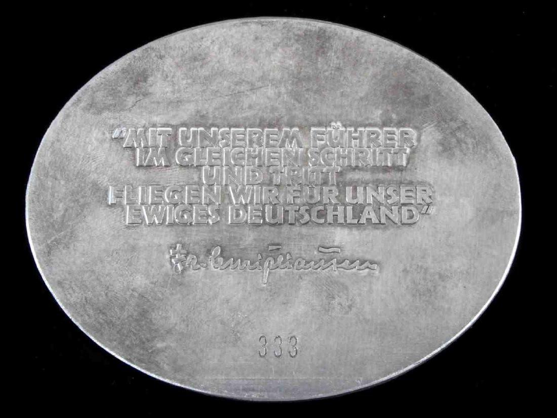 GERMAN WWII 1938 NSFK KUFTENFLUG TABLE AWARD - 2