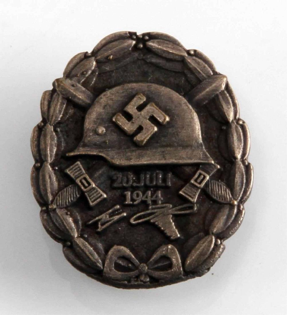 GERMAN WWII HITLER BLACK LAPEL JULY 20 WOUND BADGE