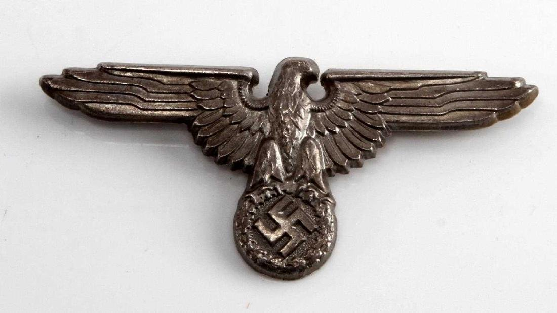GERMAN WWII WAFFEN SS OFFICERS VISOR CAP EAGLE