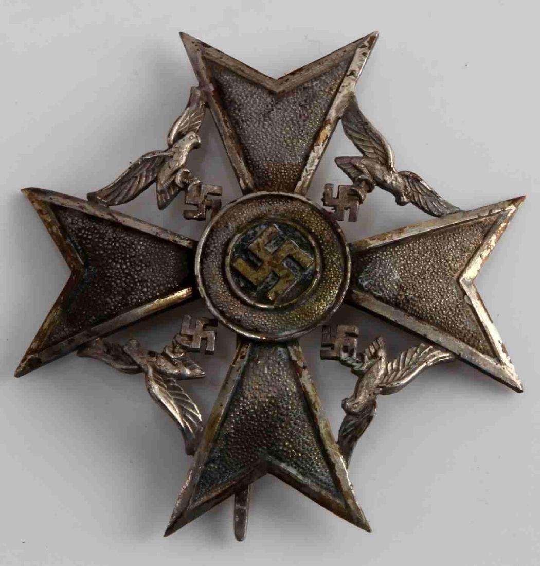 WWII GERMAN THIRD REICH SPANISH CROSS SILVER