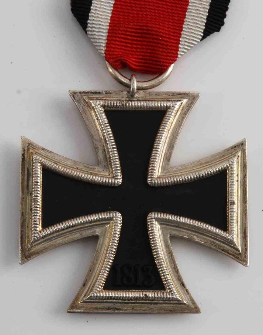 GERMAN WWII IRON CROSS W LETTER & SS NORD AUSWEIS - 3
