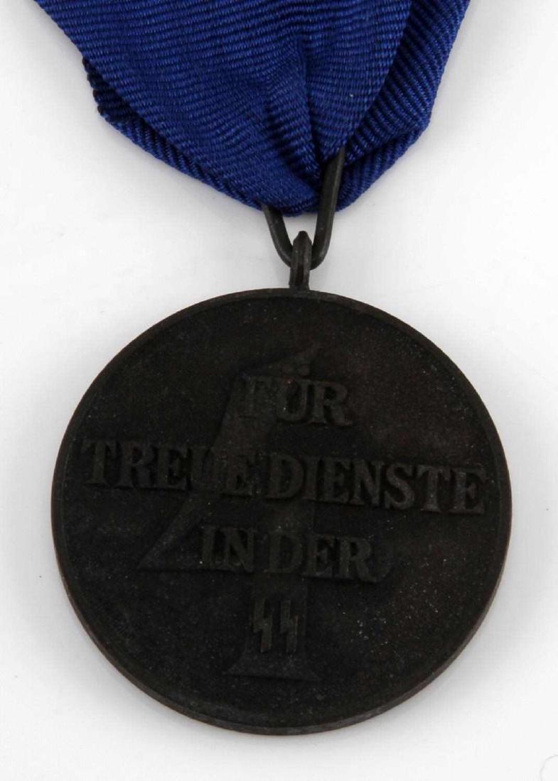 GERMAN WWII WAFFEN SS 4 YEAR SERVICE DECORATION - 3