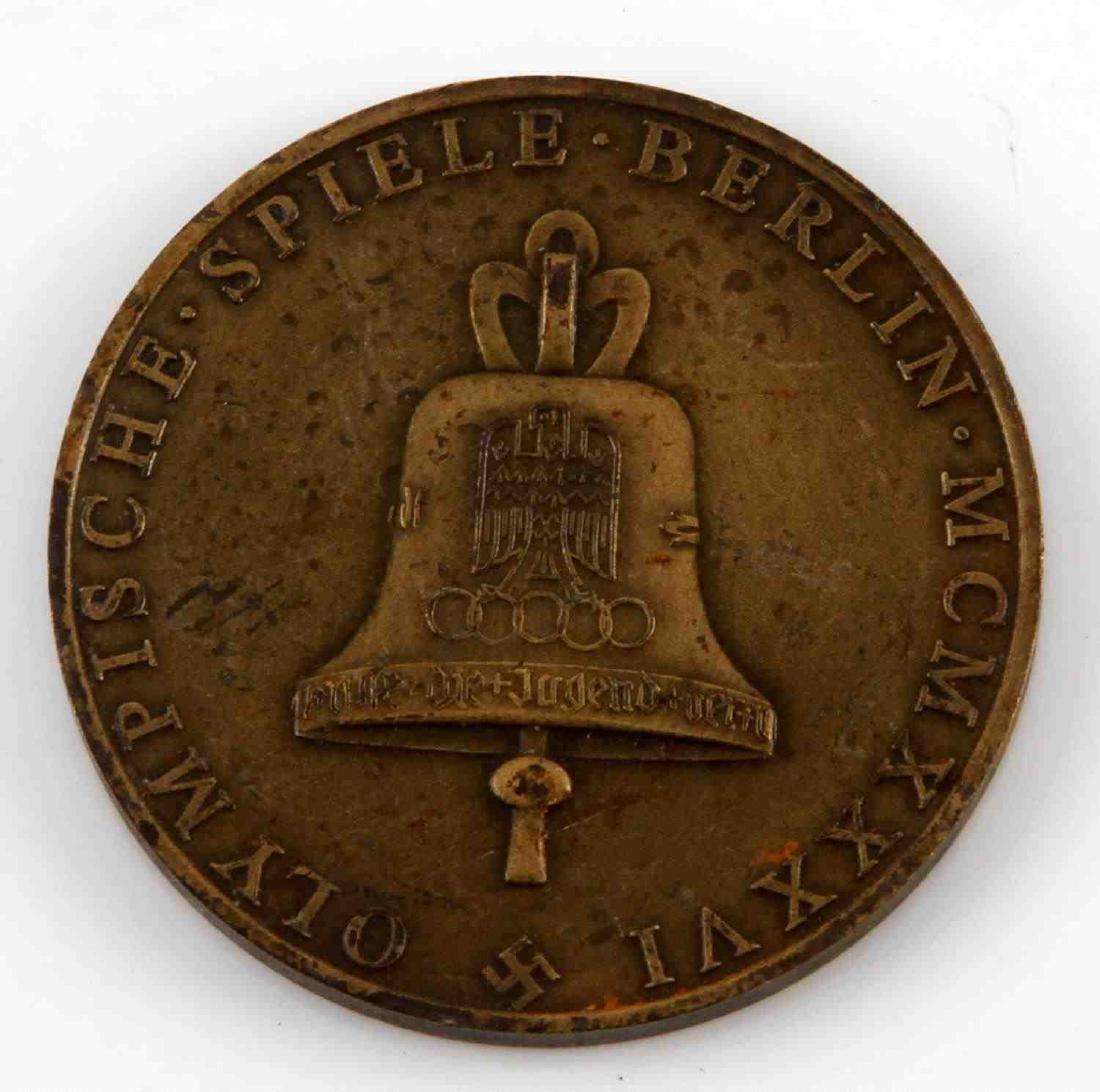 GERMAN WWII 1936 BERLIN OLYMPICS TABLE AWARD - 2
