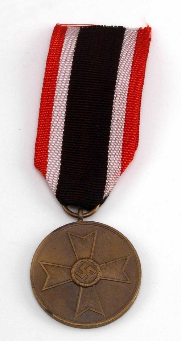 GERMAN WWII THIRD REICH WAR MERIT MEDAL W RIBBON