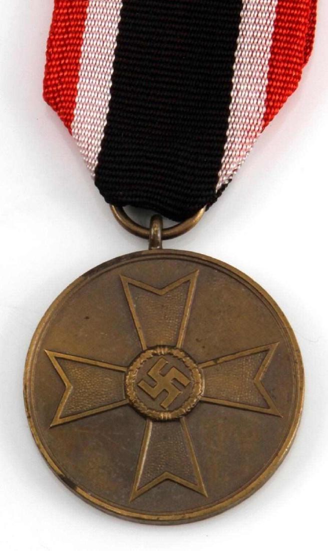 GERMAN WWII THIRD REICH WAR MERIT MEDAL W RIBBON - 2