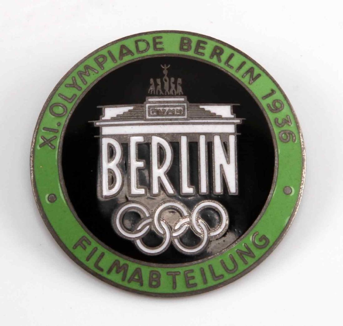 GERMAN WWII BERLIN OLYMPICS FILM MAKER BADGE