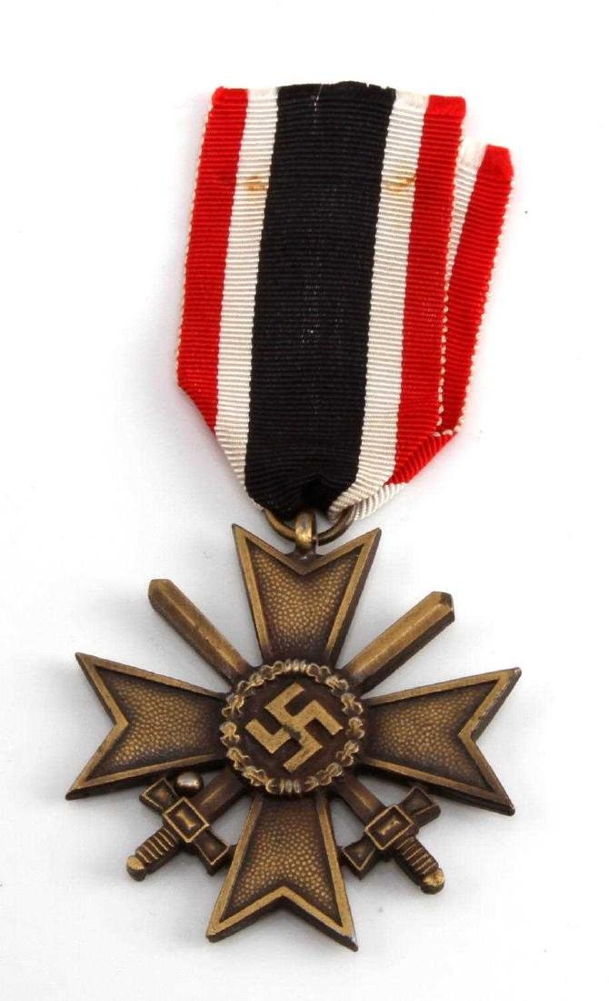 GERMAN WWII 2ND CLASS WAR SERVICE CROSS W SWORDS