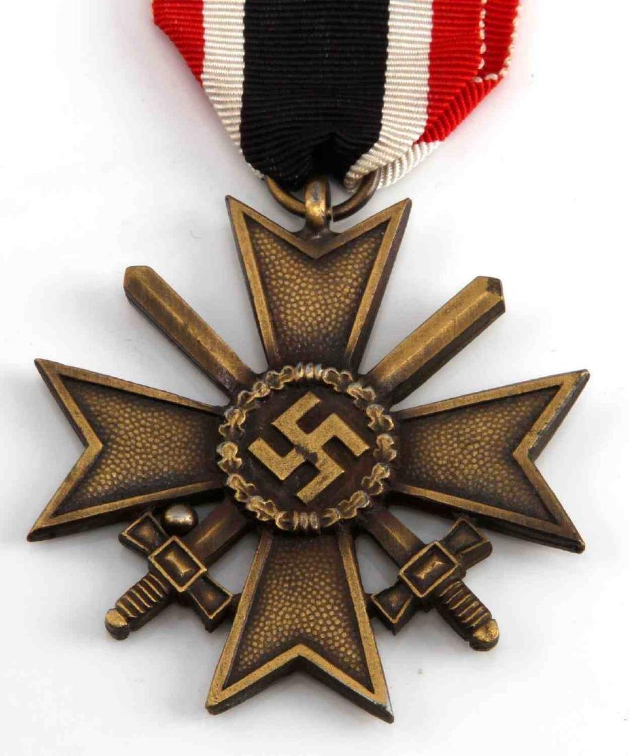 GERMAN WWII 2ND CLASS WAR SERVICE CROSS W SWORDS - 2