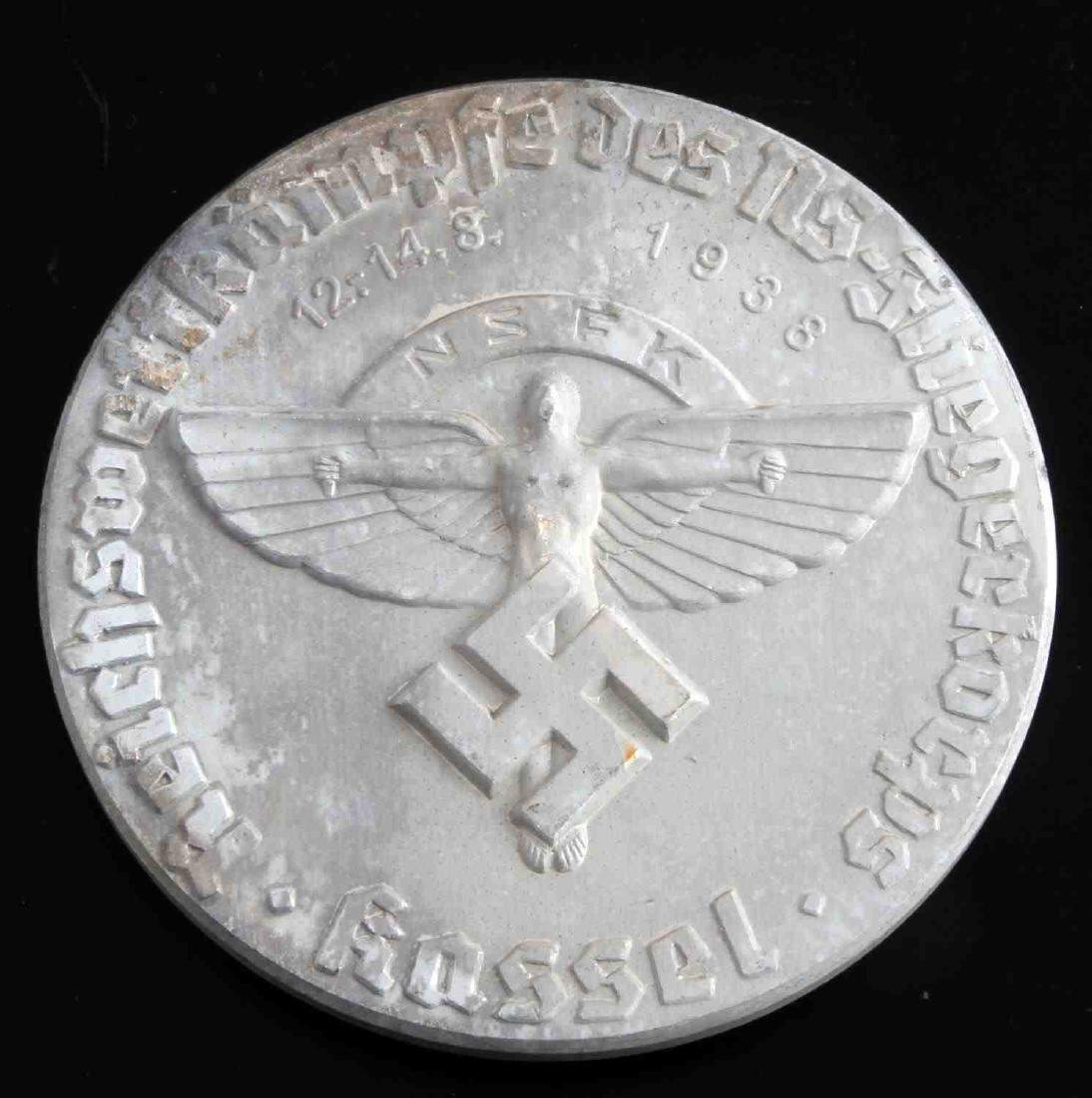 WWII THIRD REICH GERMAN NSFK 1938 TABLE AWARD