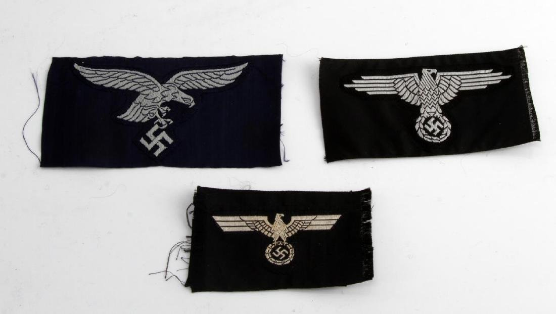 GERMAN WWII ARMY PANZER EM & OFFICERS CAP EAGLES