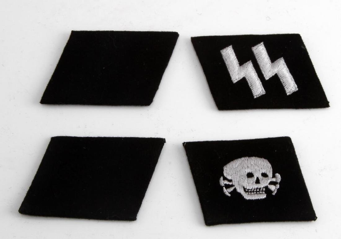 WWII GERMAN 3RD REICH WAFFEN SS EM COLLAR TAB LOT