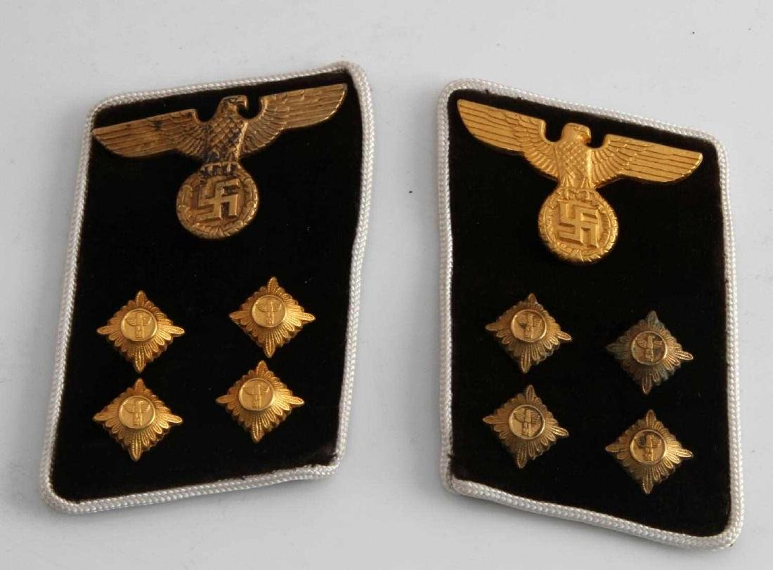 WWII GERMAN 3RD REICH POLITICAL LEADER COLLAR TABS