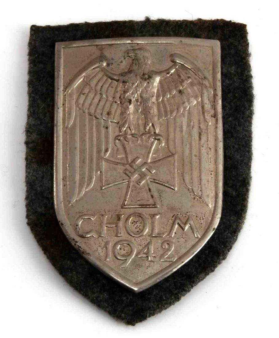 WWII GERMAN THIRD REICH CHOLM SLEEVE SHIELD