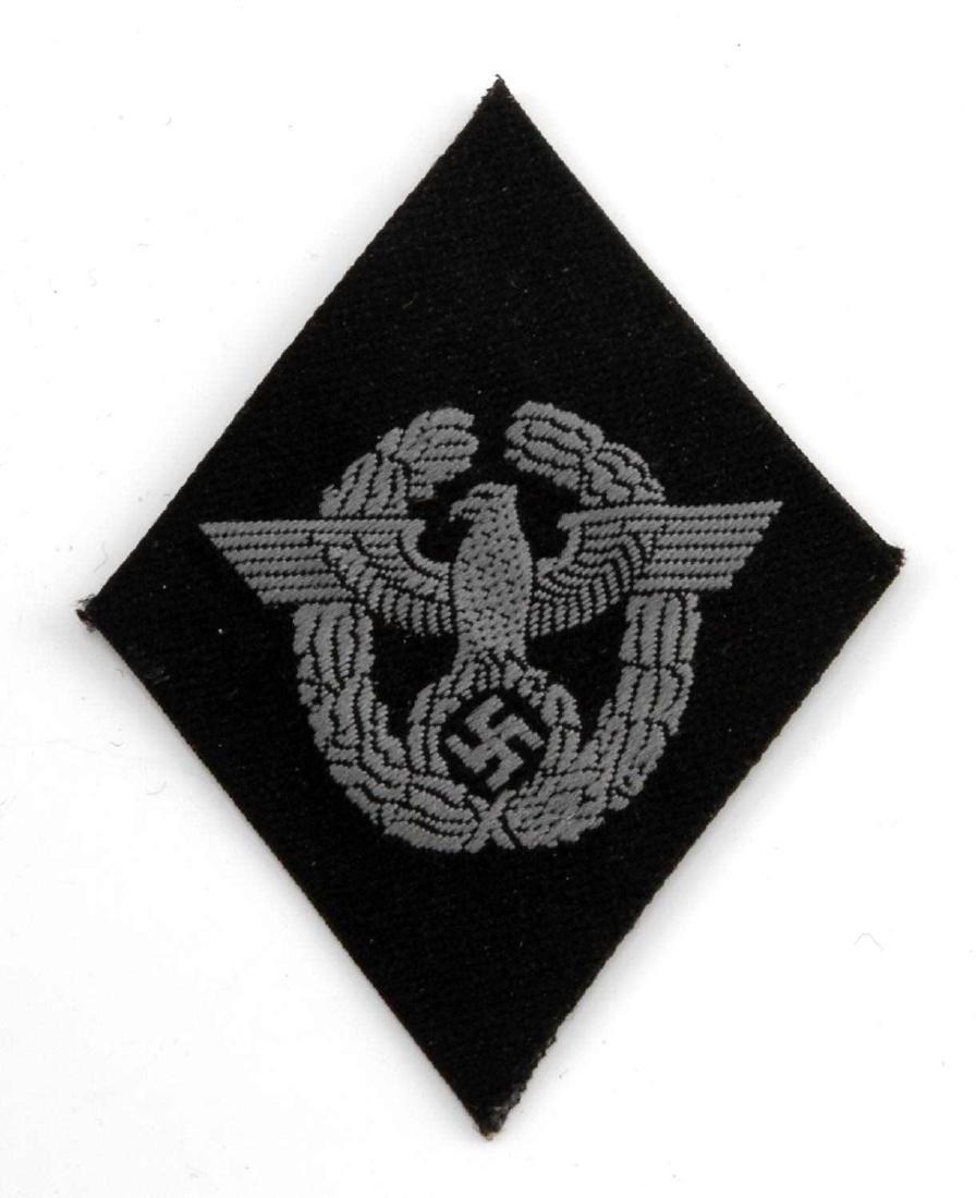 GERMAN WWII FORMER POLICE WAFFEN SS SLEEVE DIAMOND