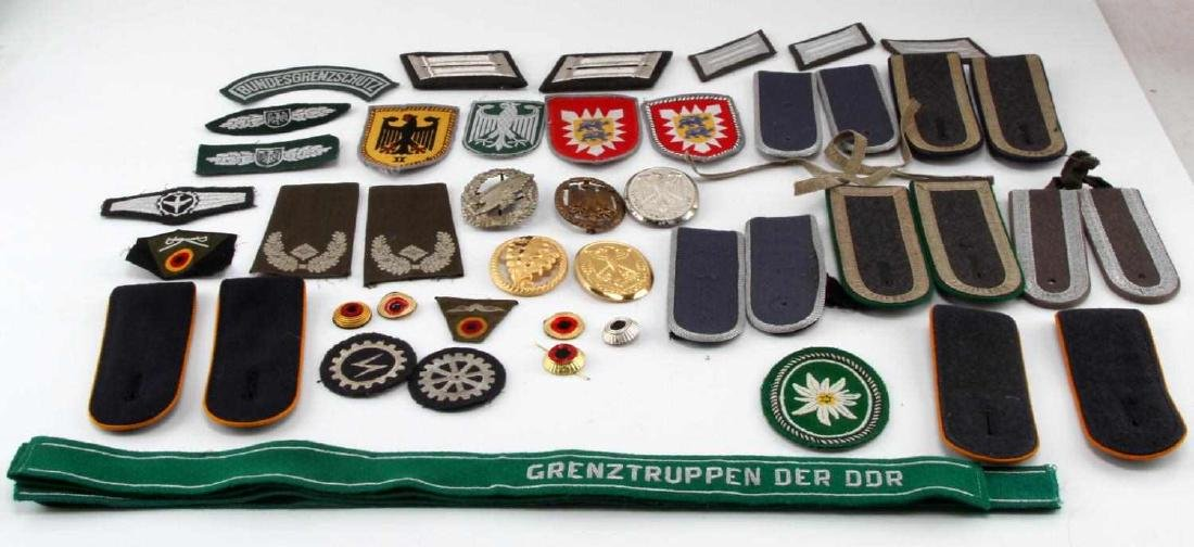 LARGE WEST GERMAN MILITARY CUFF TITLE & PATCH LOT