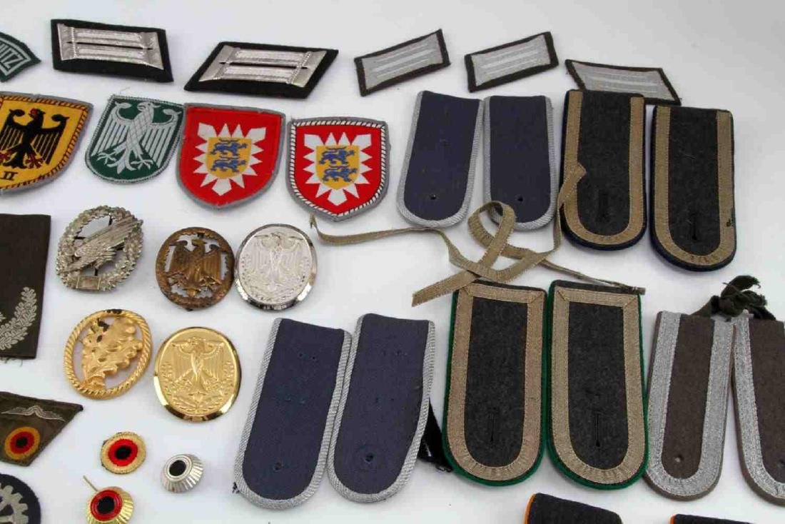 LARGE WEST GERMAN MILITARY CUFF TITLE & PATCH LOT - 3