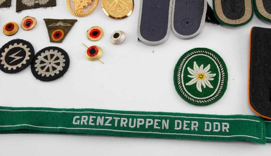 LARGE WEST GERMAN MILITARY CUFF TITLE & PATCH LOT - 4