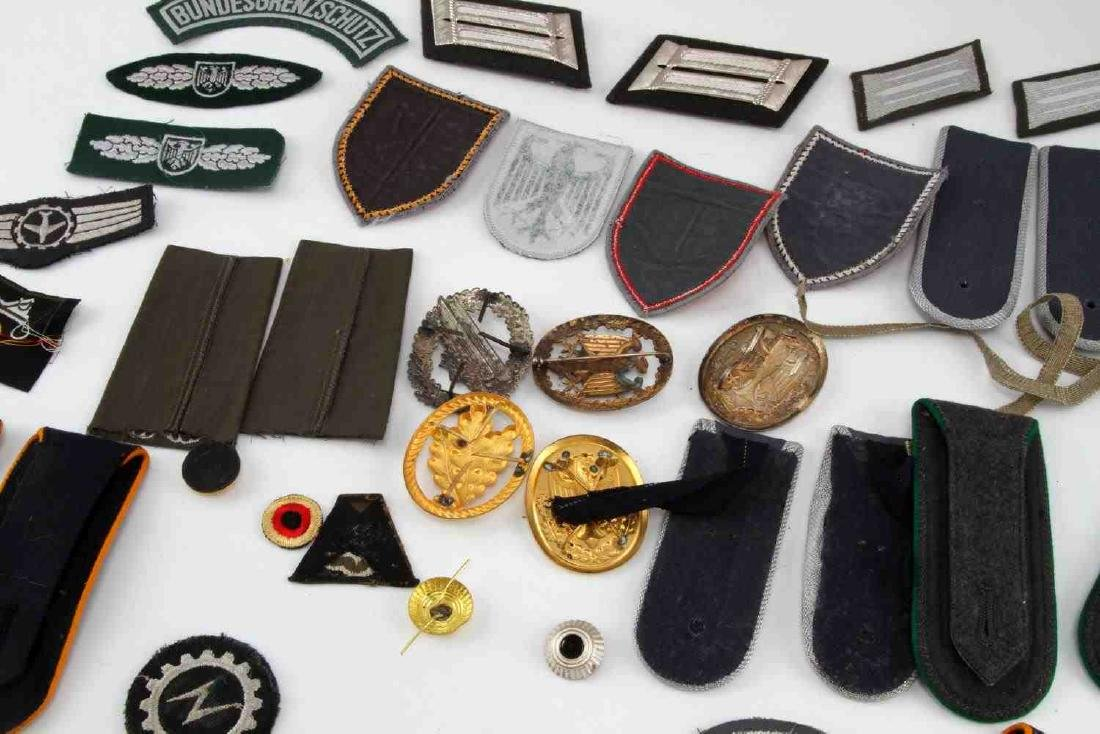 LARGE WEST GERMAN MILITARY CUFF TITLE & PATCH LOT - 5