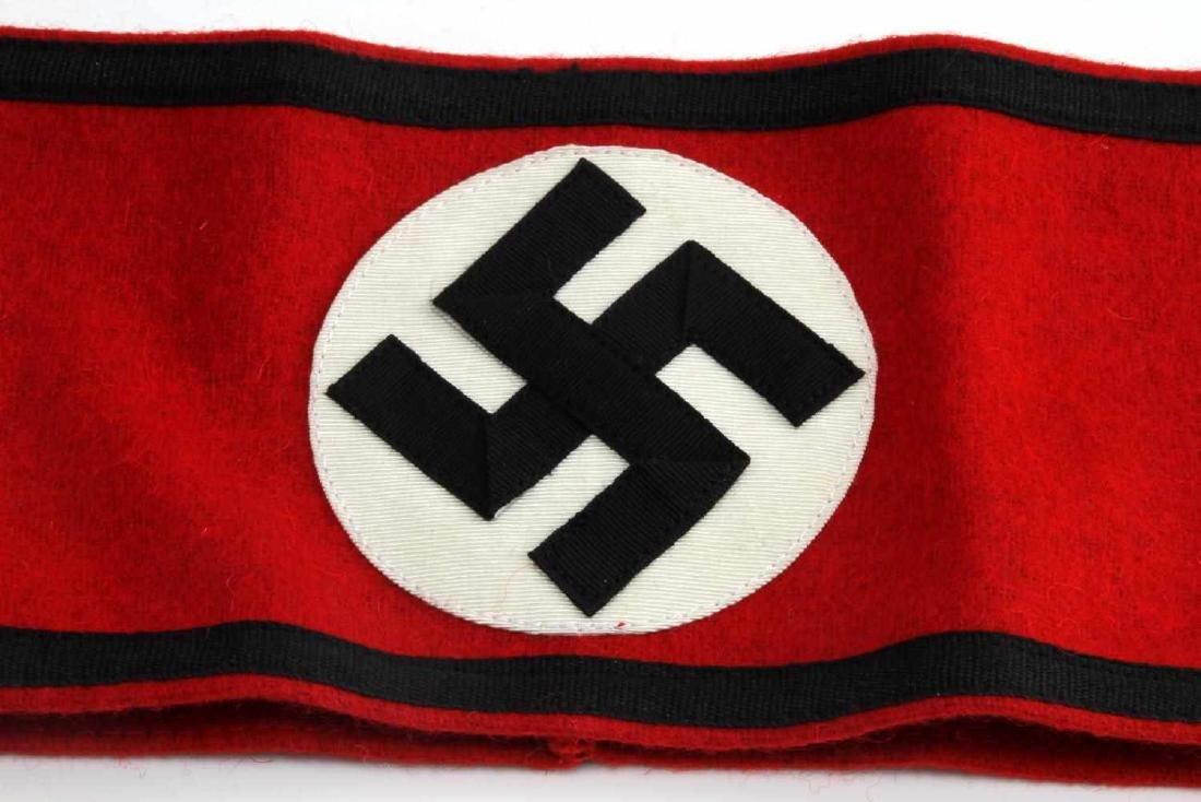 GERMAN WWII WAFFEN SS SHULTZ STAFFEL ARM BAND - 2