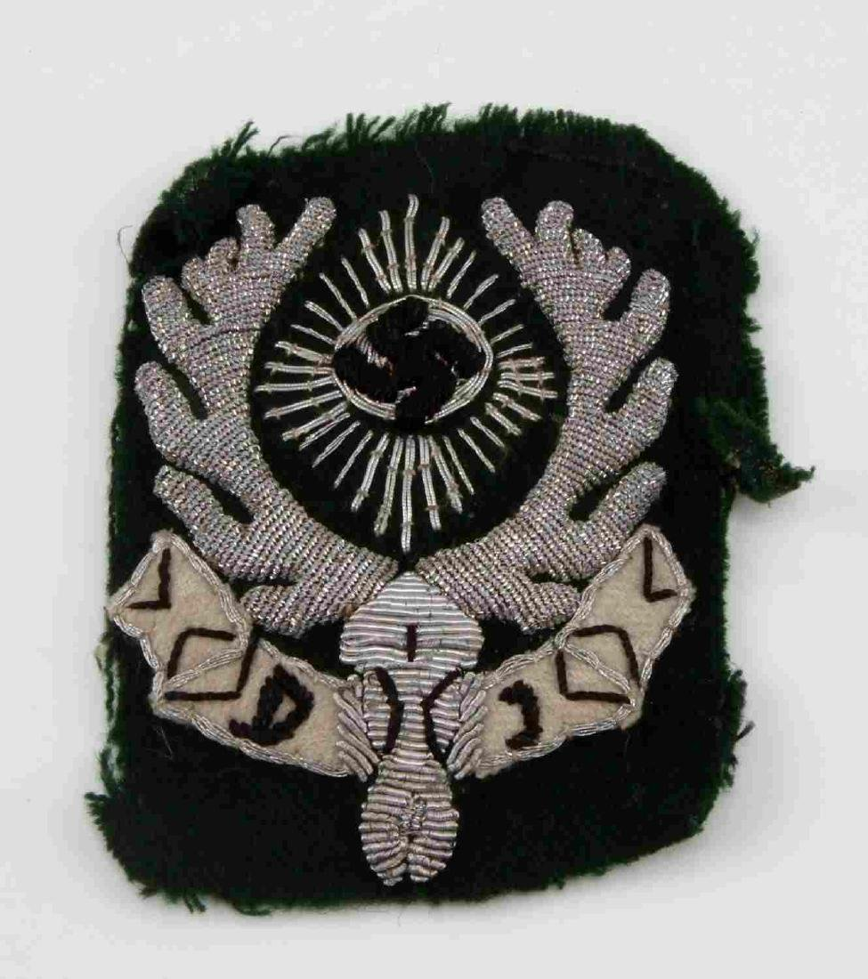 WWII GERMAN THIRD REICH JAGERSCHAFT SLEEVE PATCH
