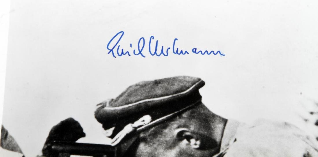 GERMAN POST WWII LUFTWAFFE ACE HARTMANN PHOTO - 2
