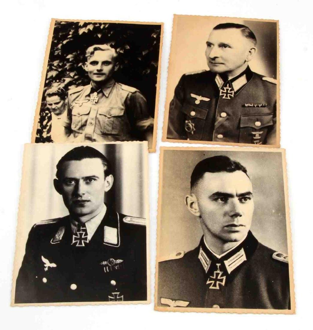 4 GERMAN WWII ARMY & LUFTWAFFE KNIGHTS CROSS PHOTO