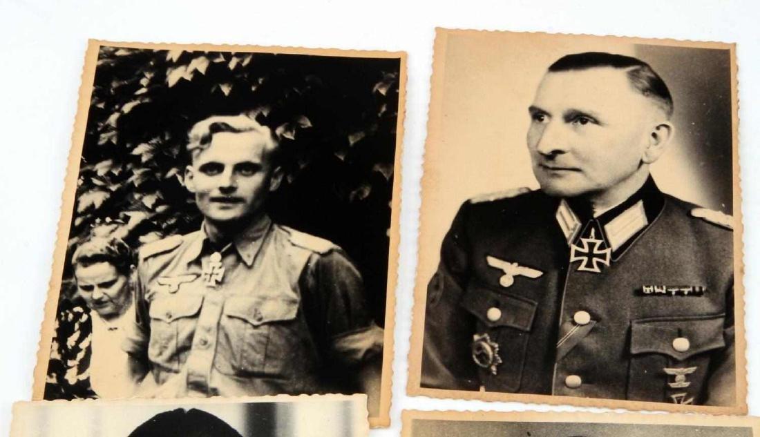 4 GERMAN WWII ARMY & LUFTWAFFE KNIGHTS CROSS PHOTO - 2