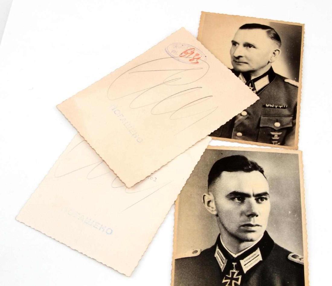 4 GERMAN WWII ARMY & LUFTWAFFE KNIGHTS CROSS PHOTO - 3