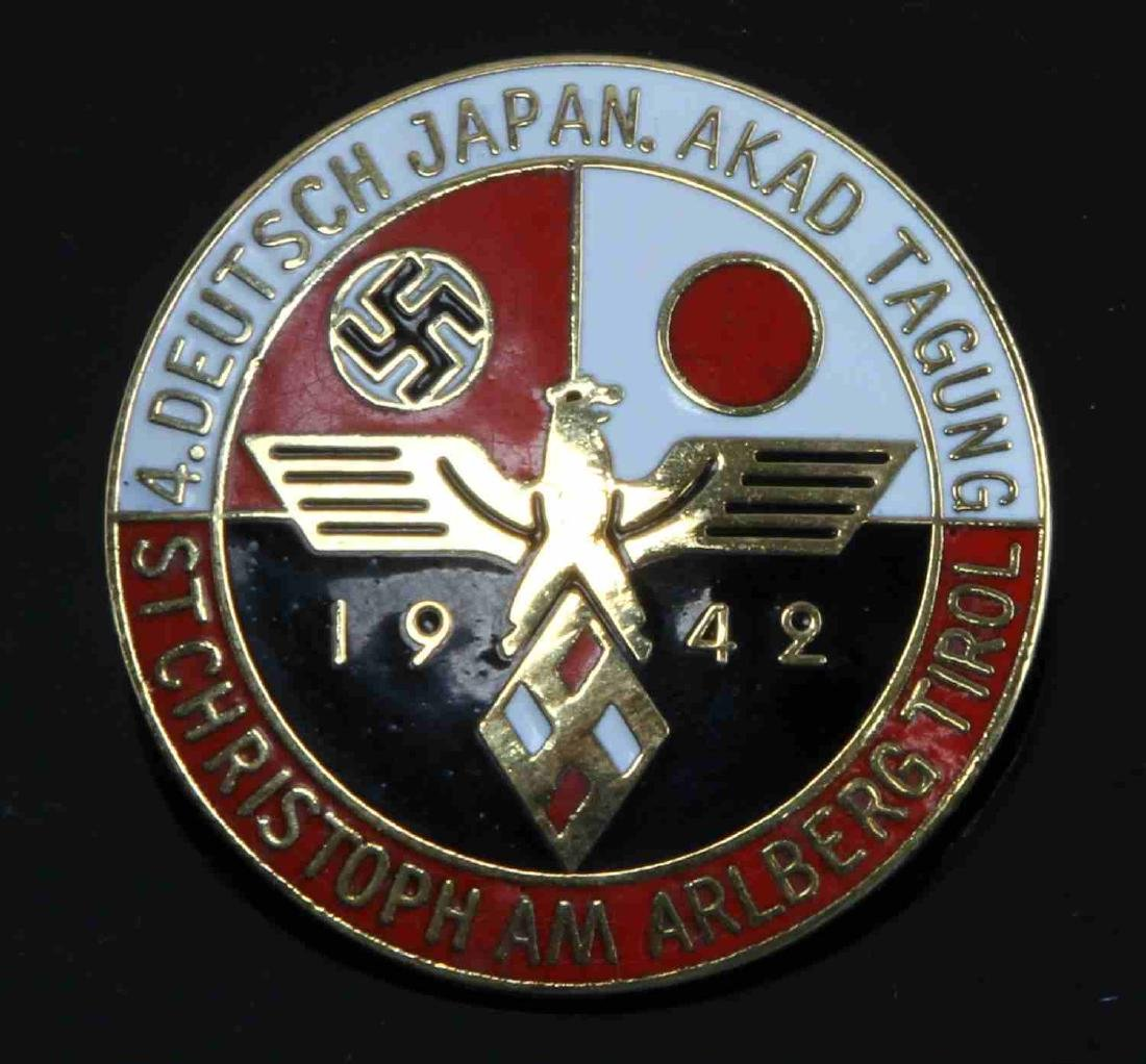 WWII GERMAN JAPANESE 3RD REICH 1942 AXIS BADGE