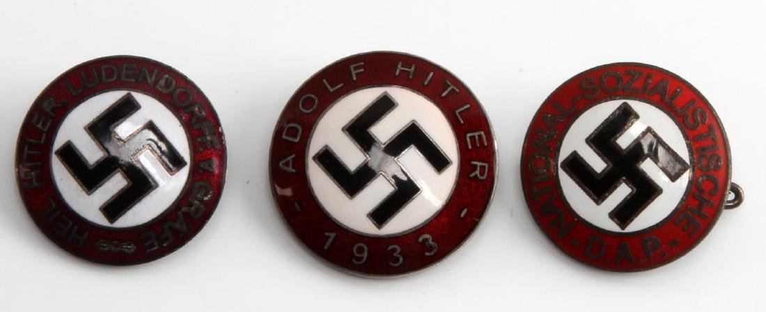 WWII GERMAN THIRD REICH PARTY ENAMEL PIN LOT