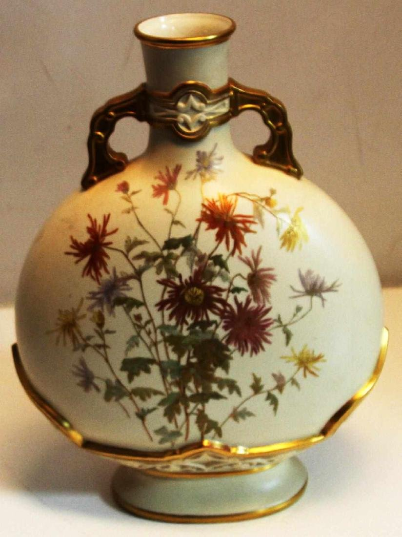 ROYAL WORCESTER HAND PAINTED 15 INCH VASE