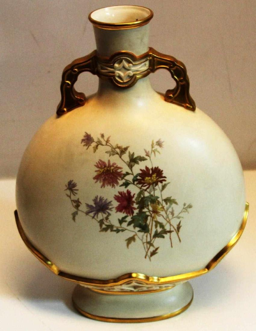 ROYAL WORCESTER HAND PAINTED 15 INCH VASE - 2