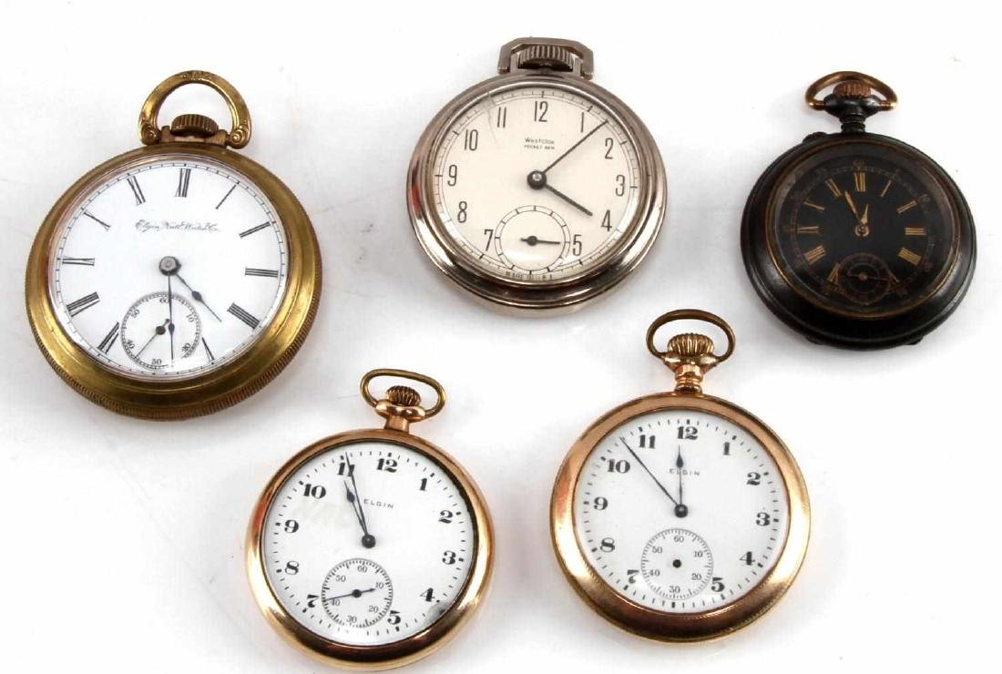 ANTIQUE AND VINTAGE POCKET WATCH LOT