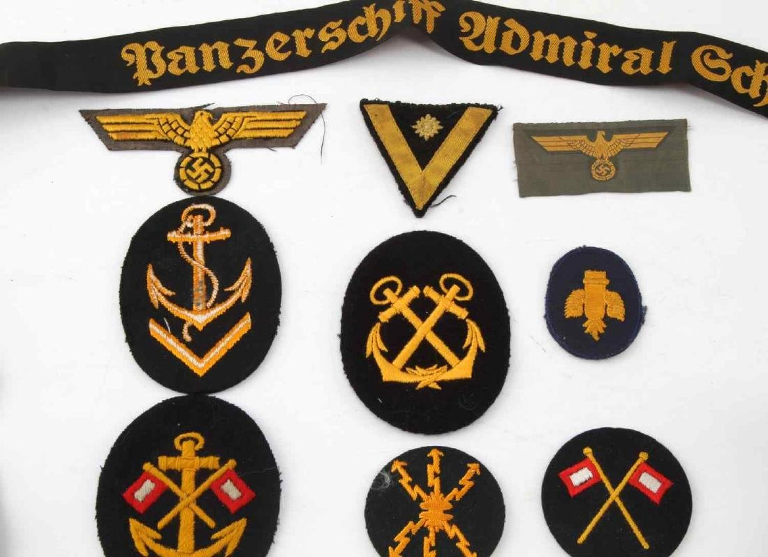 LARGE ASSORTED THIRD REICH PATCHES INSIGNIA  LOT - 2