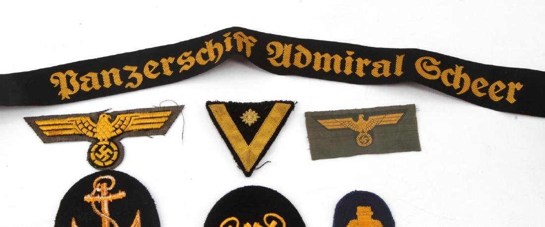 LARGE ASSORTED THIRD REICH PATCHES INSIGNIA  LOT - 3