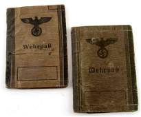 PAIR OF WWII GERMAN NSDAP WEHRPASS ID BOOKLETS